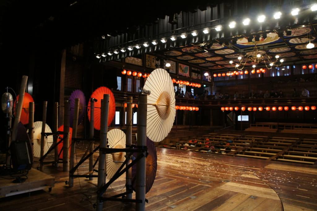 Photo prise depuis la scène du théâtre Yachiyoza