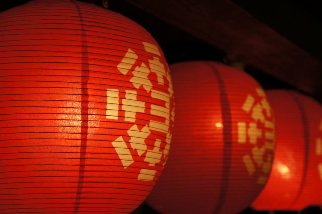 Lanternes rouges traditionnelles