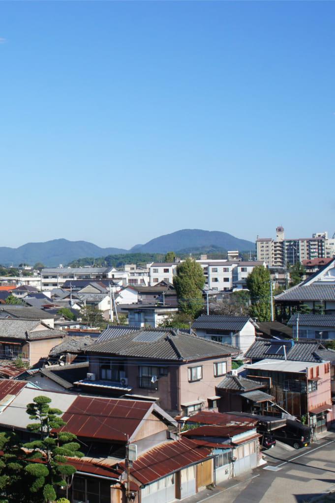 Vue sur Yamaga Onsen depuis le ryokan Seiryuso