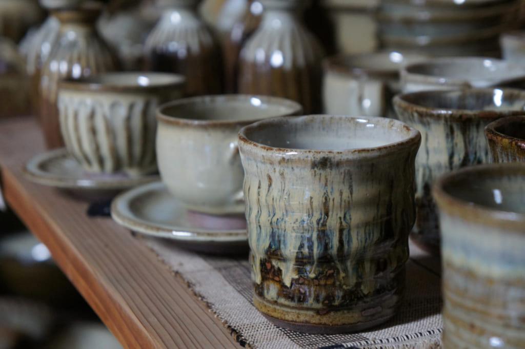 Tasse de céramique Shodai yaki réalisées par M. Yamaguchi