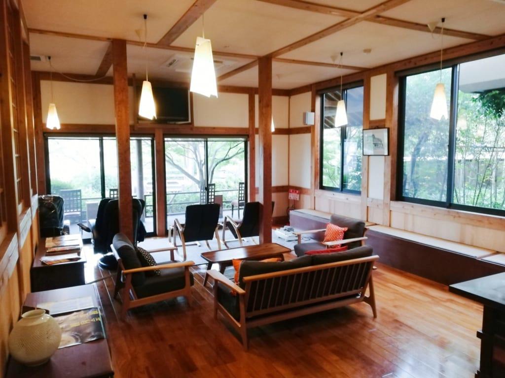 Salon du ryokan Kafutei au nord de la préfecture de Kumamoto