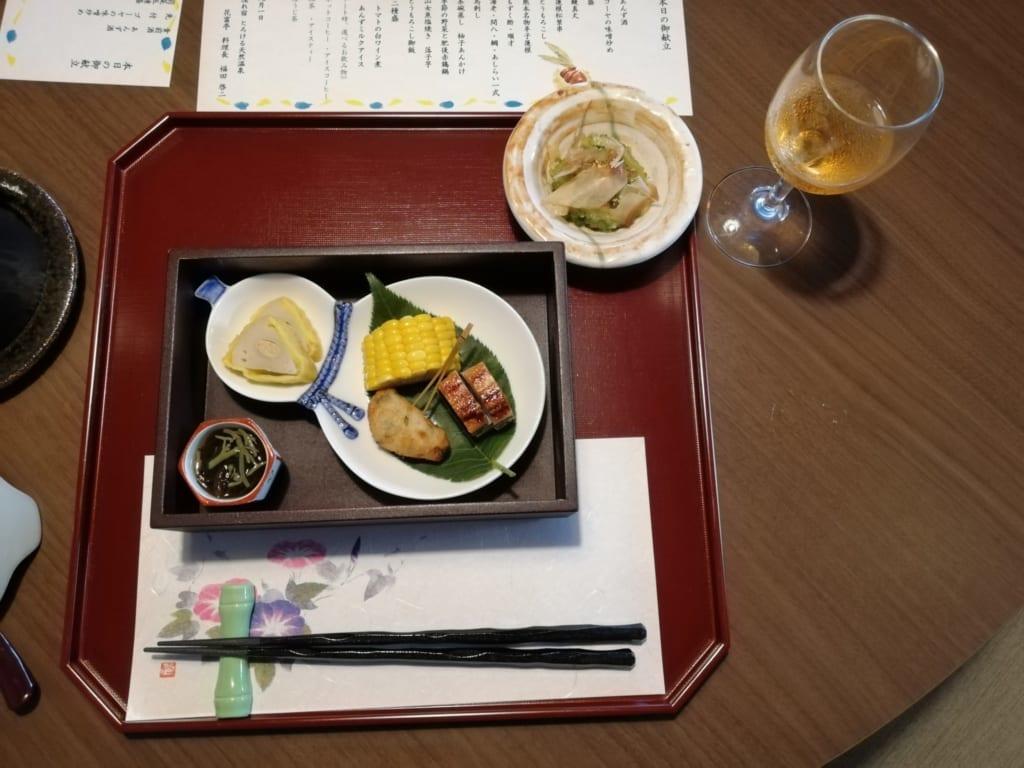 Diner kaiseki au ryokan Kafutei dans la préfecture de Kumamoto