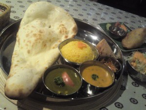 Nepalese,Indian,curry,naan,vegetarian