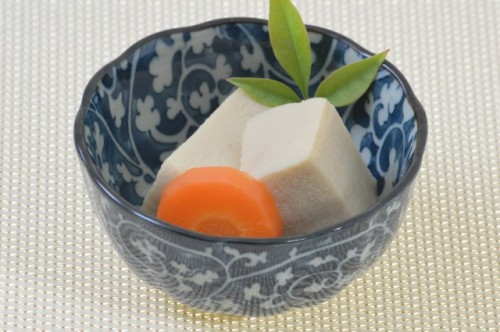 Koya tofu is also a typical vegetarian food in a temple
