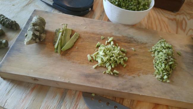 wasabi,chopped