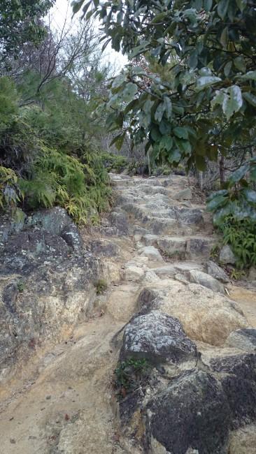 Path hints at a coming temple, Himeji Shoshasan hiking trail