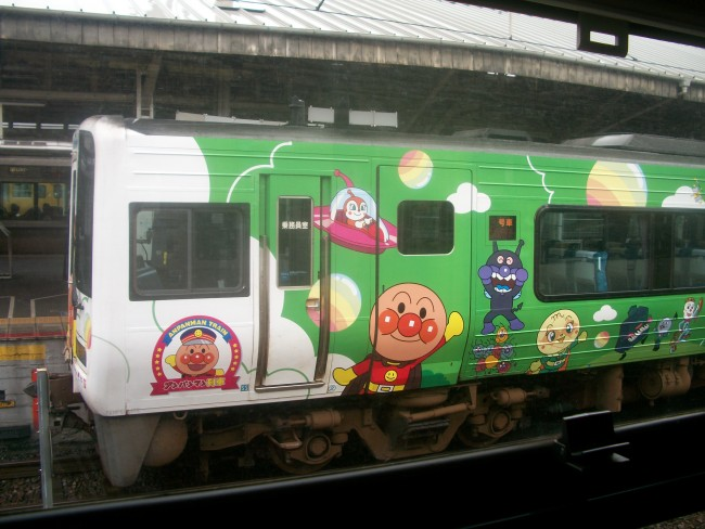 Japan subway train transportation decorated with Anmanpan