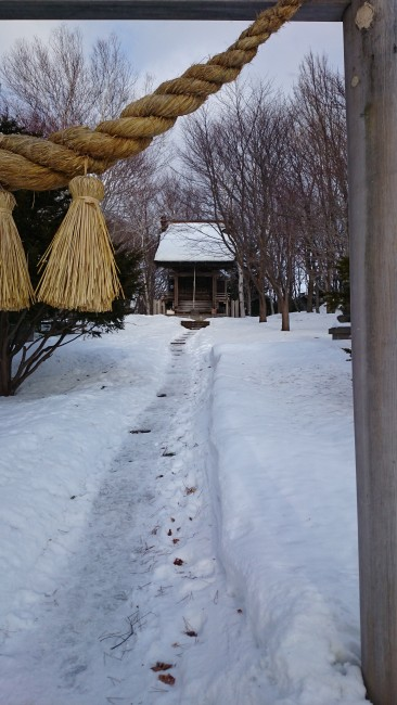 Shinto shrine in the museum village