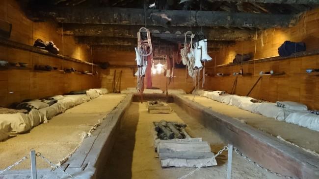 Hokkaido communal huts of the local migrant fisherman