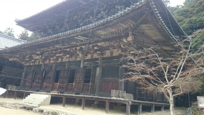 Maniden temple along Himeji Shoshasan hiking trail