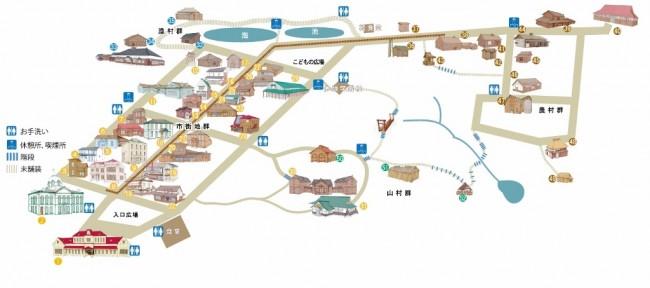 Hokkaido village museum map
