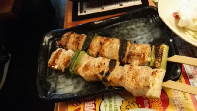 Spiced grilled chicken breast (むね貴族焼) at Torikizoku, a popular Japanese Izakaya