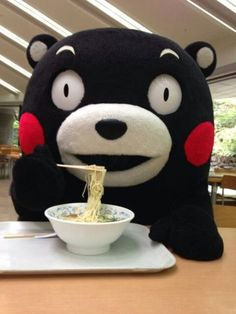 He is one of the mascot characters in japan named kumamon