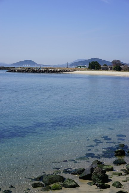 crystal clear waters offer a nice view for Cycling in Nokonoshima Fukuoka