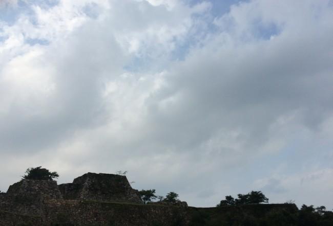 Takeda castle hiking route, castle ruins
