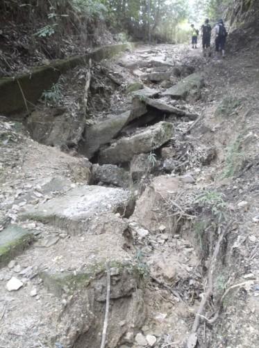 rocky path in Hiei, home to Enryaku-ji Temple
