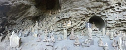 Sengohyakyu rakan statues on Nokogiriyama mountain