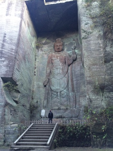 Hyakushaku Kannon Buddha statue on Nokogiriyama mountain