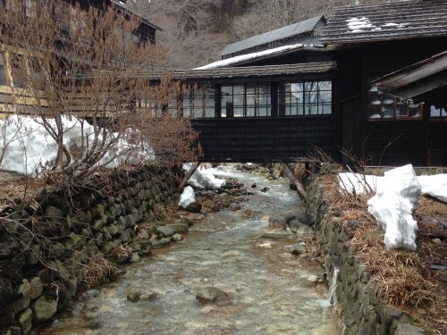 Stay in a ryokan and enjoy hot springs (onsen) in Akita during winter.
