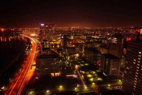 Fukuoka aerial night view
