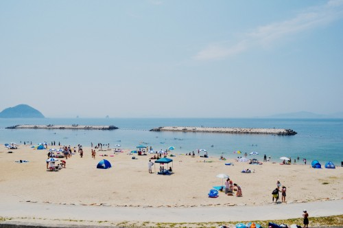 seaside beach in Matsuyama