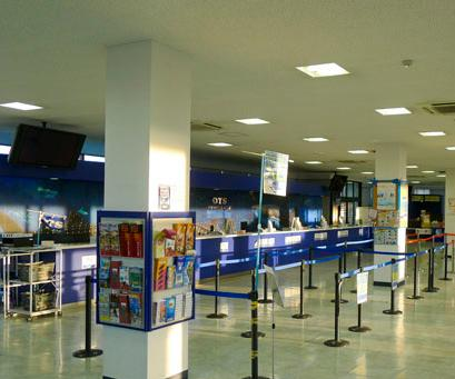 Indoor area of the store at the Naha international airport