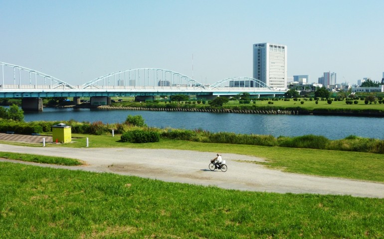 Park and picture of Tamagawa river.
