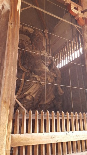 guardian statues in Todaiji Temple Nara, Japan, the epitome of Japanese Buddhism history
