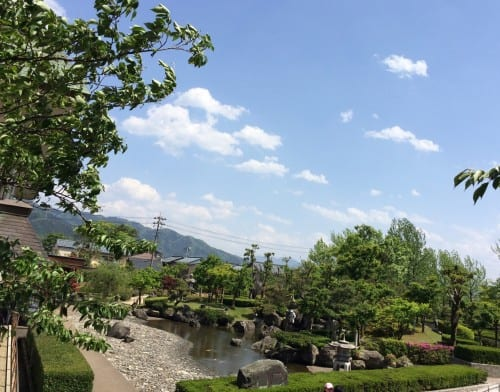 Garden maintained by the castle authorities, Maruoka castle, Fukui