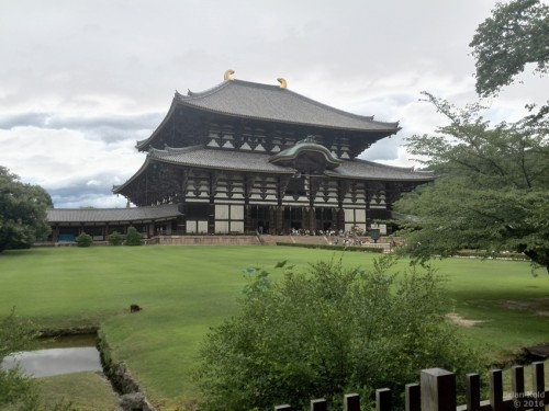 green fields surround Todaiji Temple in Nara, a center of Buddhism history