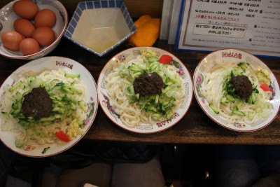 Jajamen is the local noodle of Iwate