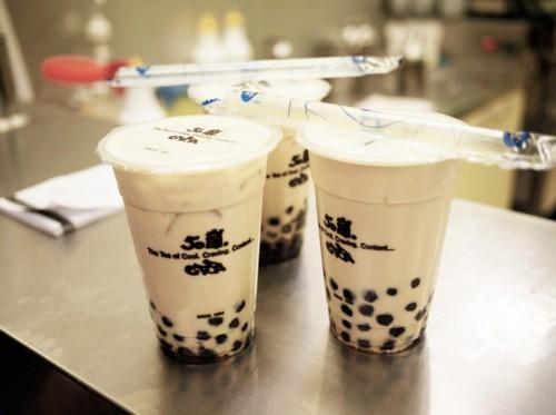 bubble tea or boba, this time I ordered pearl milk tea!