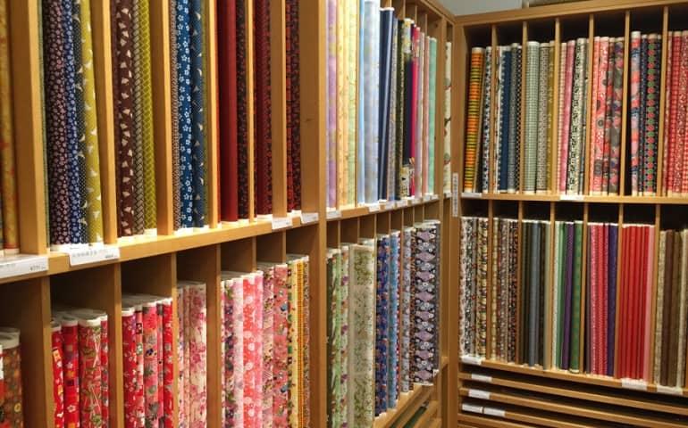 Beautiful varieties of Japanese paper.