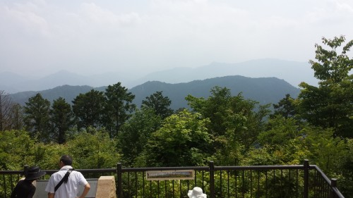 Mount Takao, view from the top