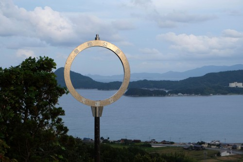a monument standing near amanohashidate