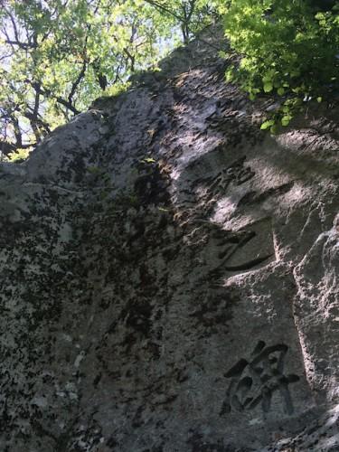 rock carvings letters