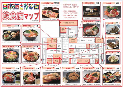 sakana machi food map, the fish market in fukui