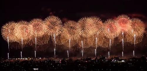nagaoka fireworks is pretty famous among all of Japanese