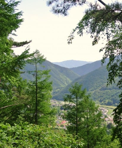 Yabuhara, a post town on the other side of the mountain.