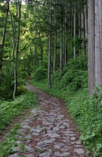 Nakasendo - the original pebble stonepaving that ran the length of the hwy.