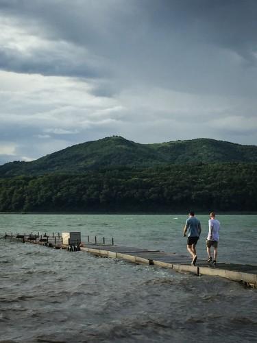 Strolling in Lake Yamanaka!