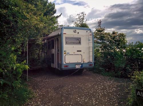 Auto camp place by Lake Yamanaka