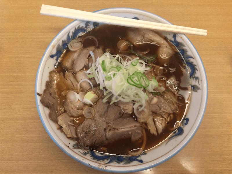The delicious Toyama black ramen at Taiki restaurant.