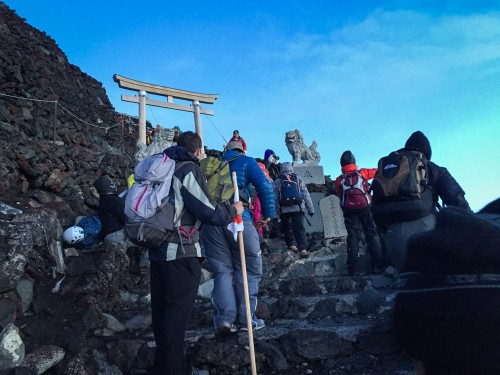 Mt Fuji climbing to catch sunrise was exciting memory in Japan!