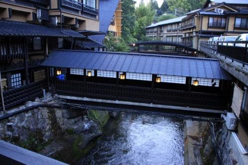 Kurokawa ist eine kleine Onsen Stadt im Norden des Berges Aso, Kumamoto, Japan