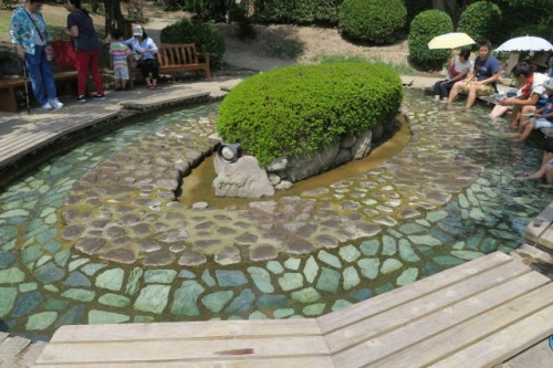you can put your foot into this onsen