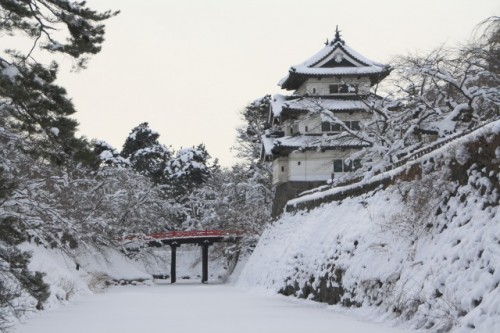 Hirosaki castle in the winter, Tjsugaru region
