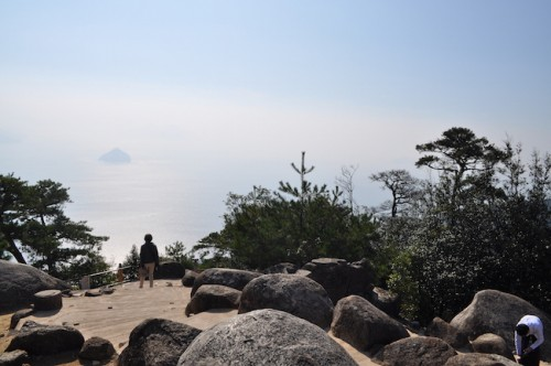 The Seto Inland view from Mount Misen, Miyajima