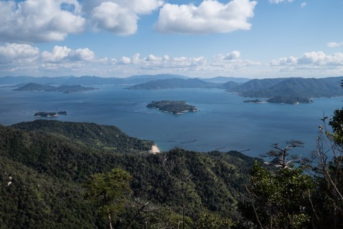 The stunning Seto Inland view from Mount Misen, Miyajima