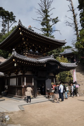 The beautiful pagoda at Mount Misen, Miyajima
